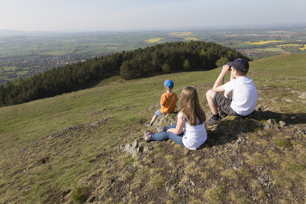 Kids on top of Earls Hill